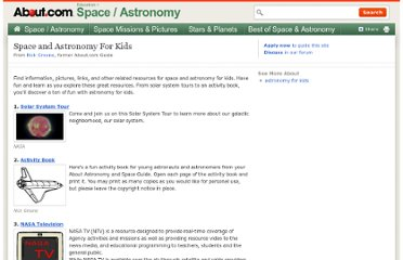 http://space.about.com/od/educationastronomyspace/tp/Astronomy_For_Kids.htm