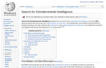 http://de.wikipedia.org/wiki/Search_for_Extraterrestrial_Intelligence