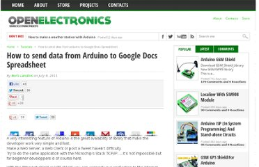 http://www.open-electronics.org/how-send-data-from-arduino-to-google-docs-spreadsheet/
