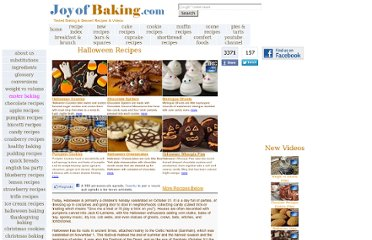 http://www.joyofbaking.com/halloweenrecipes/halloweenrecipes.html