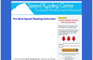 http://www.speedreadingcenter.com/the-best-speed-reading-exercises/