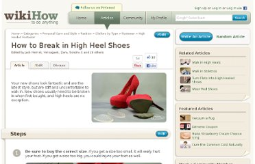 http://www.wikihow.com/Break-in-High-Heel-Shoes