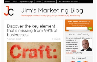 http://jimsmarketingblog.com/2011/09/05/discover-the-key-element-thats-missing-from-99-of-businesses/