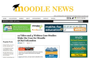 http://www.moodlenews.com/2011/12-video-and-4-written-case-studies-make-the-case-for-moodle-cityunilondon/