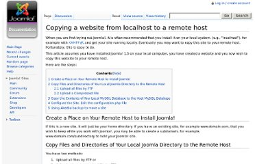 http://docs.joomla.org/Copying_a_website_from_localhost_to_a_remote_host#Create_a_Place_on_Your_Remote_Host_to_Install_Joomla.21