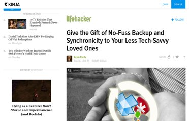 http://lifehacker.com/5715612/give-the-gift-of-no+fuss-backup-and-synchronicity-to-the-less-tech+savvy