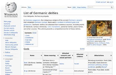 http://en.wikipedia.org/wiki/List_of_Germanic_deities