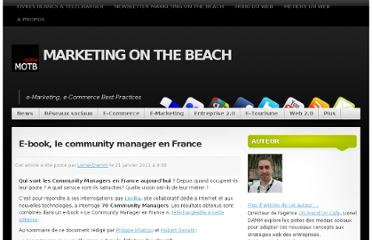 http://www.marketingonthebeach.com/e-book-le-community-manager-en-france/