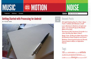 http://createdigitalmotion.com/2010/09/getting-started-with-processing-for-android/