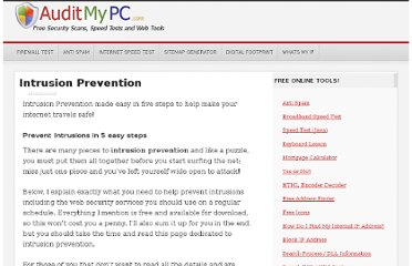 http://www.auditmypc.com/intrusion-prevention.asp