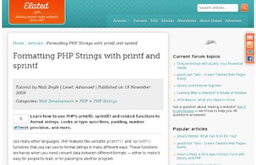 http://www.elated.com/articles/formatting-php-strings-printf-sprintf/