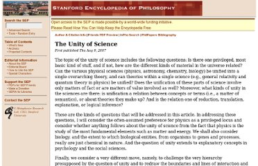 http://plato.stanford.edu/entries/scientific-unity/
