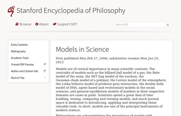 http://plato.stanford.edu/entries/models-science/