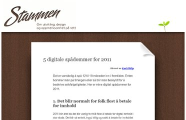 http://stammen.no/blogging/5-digitale-spadommer-for-2011