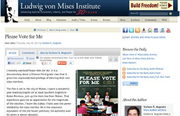 http://mises.org/daily/5238/Please-Vote-for-Me