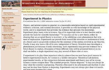http://plato.stanford.edu/entries/physics-experiment/