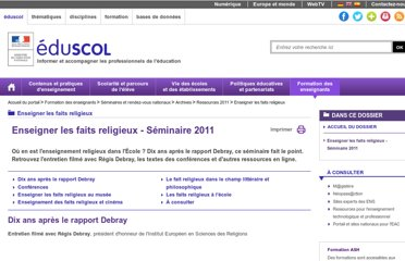 http://eduscol.education.fr/cid56291/seminaire-dgesco-2011.html