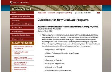 http://www.iu.edu/~grdschl/starting-new-graduate-programs.php