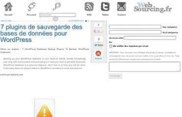 http://blog.websourcing.fr/ontheweb/7-plugins-de-sauvegarde-des-bases-de-donnees-pour-wordpress/