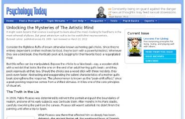 http://www.psychologytoday.com/articles/200907/unlocking-the-mysteries-the-artistic-mind