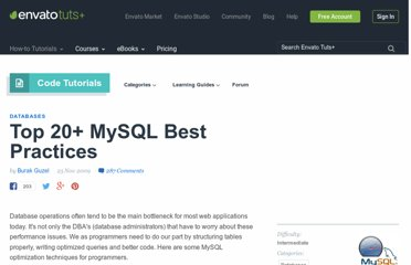 http://net.tutsplus.com/tutorials/other/top-20-mysql-best-practices/