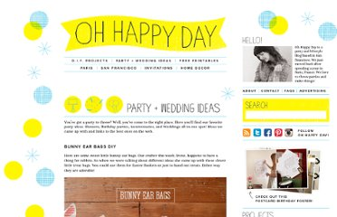 http://ohhappyday.com/category/party-wedding-ideas/page/2/