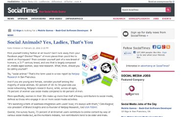 http://socialtimes.com/social-animals-yes-ladies-thats-you_b39412