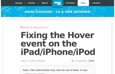 http://blog.0100.tv/2010/05/fixing-the-hover-event-on-the-ipadiphoneipod/