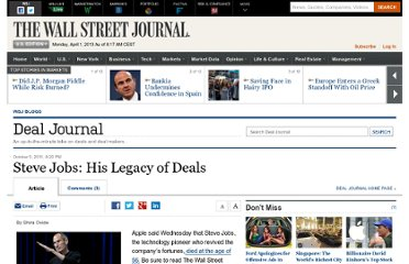 http://blogs.wsj.com/deals/2011/10/05/steve-jobs-his-legacy-of-deals/