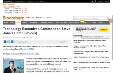 http://www.bloomberg.com/news/2011-10-06/technology-executives-comment-on-apple-s-jobs-death-voices.html