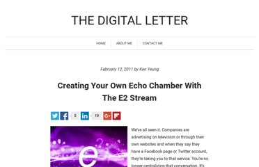 http://blog.thelettertwo.com/2011/02/12/creating-your-own-echo-chamber-with-the-e2-stream/