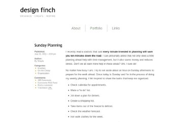 http://www.designfinch.com/2011/07/31/sunday-planning/