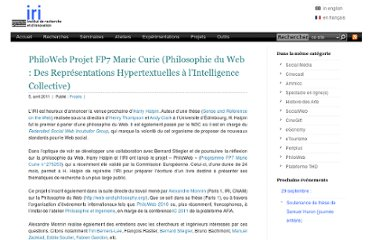 http://www.iri.centrepompidou.fr/projets/philoweb-philosophy-of-the-web-from-hypertext-representations-to-collective-intelligen/