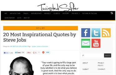 http://twistedsifter.com/2011/10/20-most-inspirational-quotes-by-steve-jobs/
