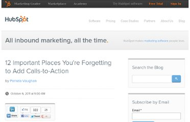 http://blog.hubspot.com/blog/tabid/6307/bid/26713/12-Important-Places-You-re-Forgetting-to-Add-Calls-to-Action.aspx
