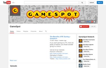 http://www.youtube.com/user/gamespot