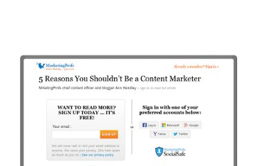 http://www.mpdailyfix.com/five-reasons-you-shouldnt-be-a-content-marketer/