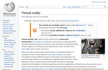 http://en.wikipedia.org/wiki/Virtual_reality