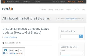 http://blog.hubspot.com/blog/tabid/6307/bid/26769/LinkedIn-Launches-Company-Status-Updates-How-to-Get-Started.aspx