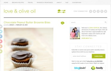 http://www.loveandoliveoil.com/2009/02/chocolate-peanut-butter-brownie-bites.html