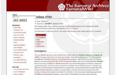 http://wiki.samurai-archives.com/index.php?title=Ikedaya_Affair