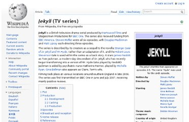http://en.wikipedia.org/wiki/Jekyll_(TV_series)