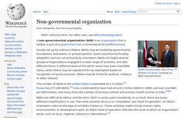 http://en.wikipedia.org/wiki/Non-governmental_organization