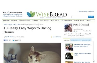 http://www.wisebread.com/10-really-easy-ways-to-unclog-drains