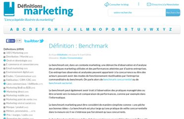 http://www.definitions-marketing.com/Definition-Benchmark