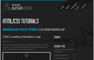 http://www.alessioatzeni.com/blog/css3-loading-animation-loop/