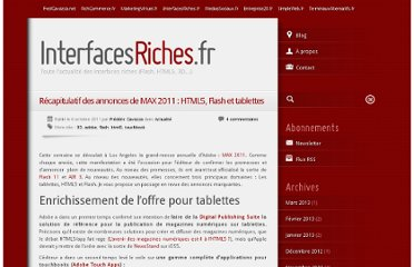 http://www.interfacesriches.fr/2011/10/06/recapitulatif-des-annonces-de-max-2011-html5-flash-et-tablettes/