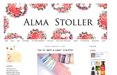 http://almastoller.blogspot.com/2011/01/how-to-make-paper-bracelet.html