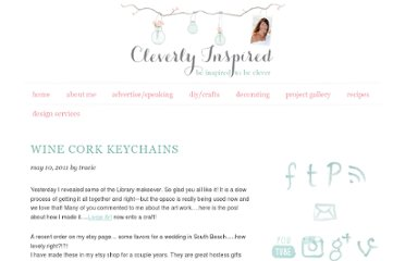 http://cleverlyinspired.blogspot.com/2011/05/wine-cork-keychains.html