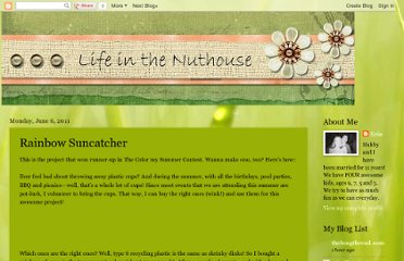 http://mylifeinthenuthouse.blogspot.com/2011/06/rainbow-suncatcher.html